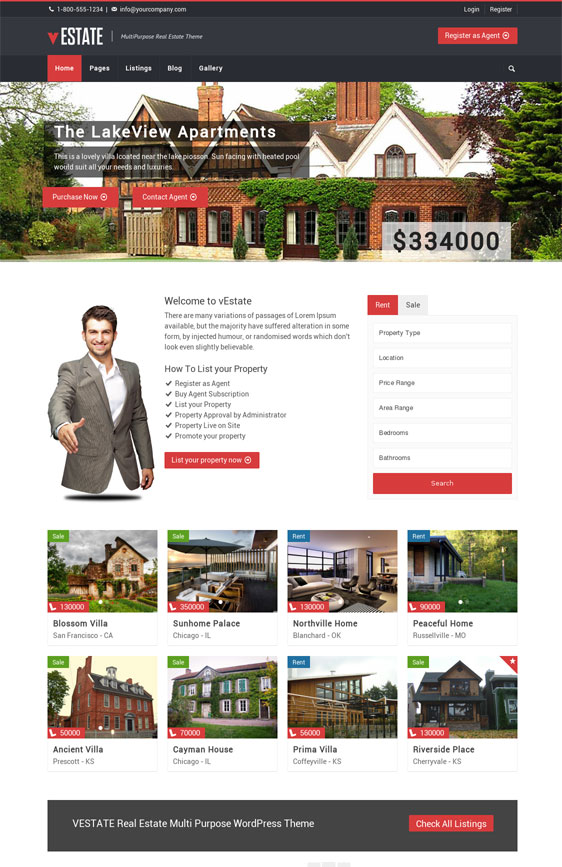 vestate wordpress theme for real estate review and download