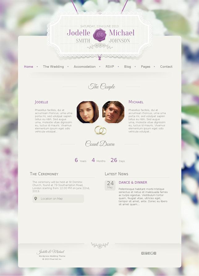 Wedding Invitation WordPress Theme