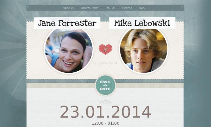 Wedding Invite WordPress Theme