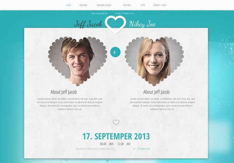 Wedding Slide WordPress Portfolio