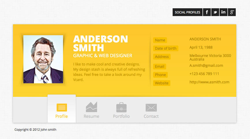 15 best wordpress resume themes 2017 smashthemes - Wordpress Resume Template