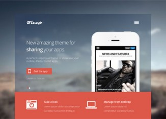 mobile app wordpress theme site template landing page