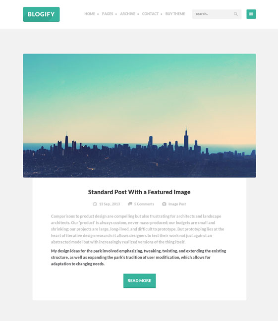 blogify wordpress theme