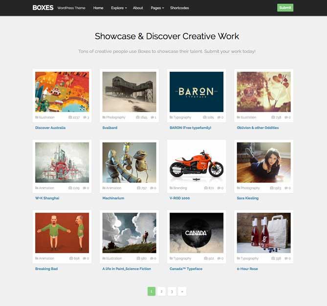 Minimal Clean Simple WordPress Themes - Boxes Theme Junkie