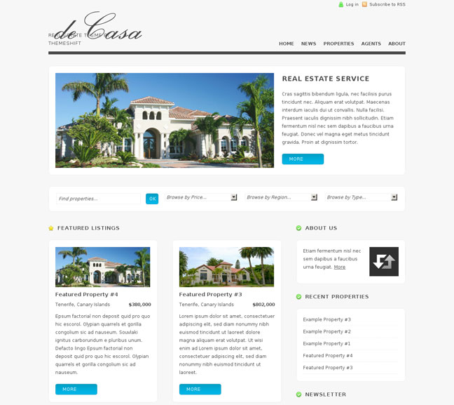 decasa wordpress theme for real estate