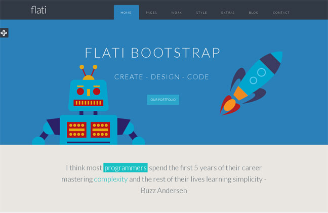 flati wordpress theme