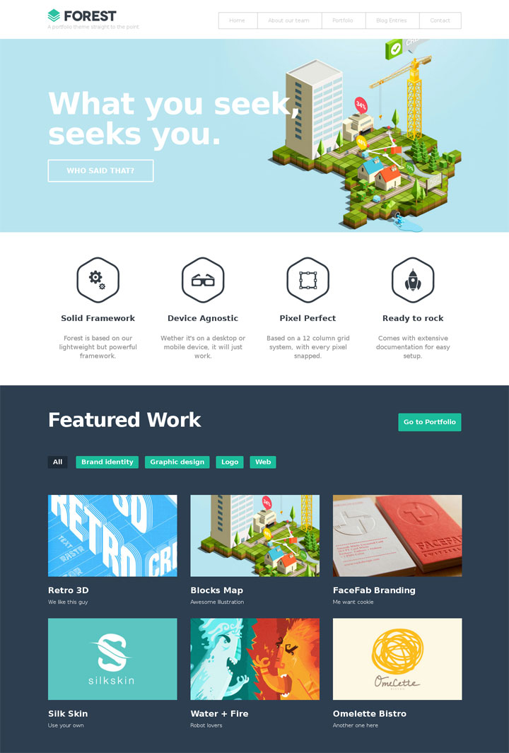 Forest Flat WordPress Theme