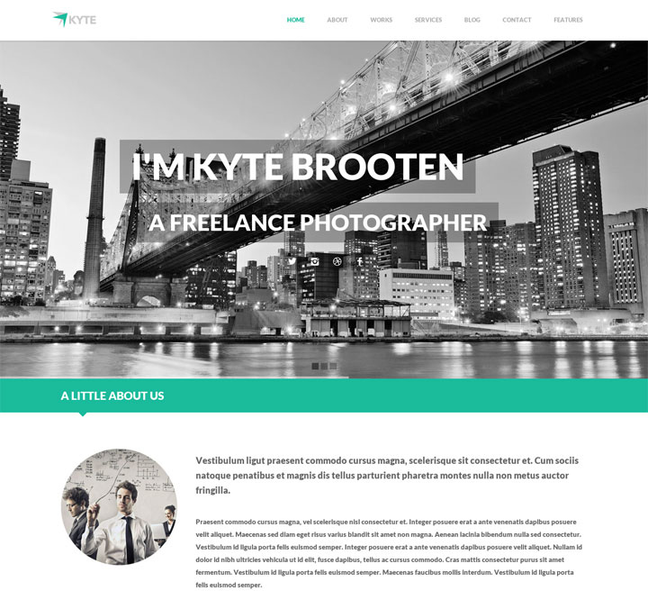 kyte wordpress theme