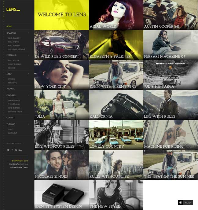 Lens WordPress Theme for Photographers
