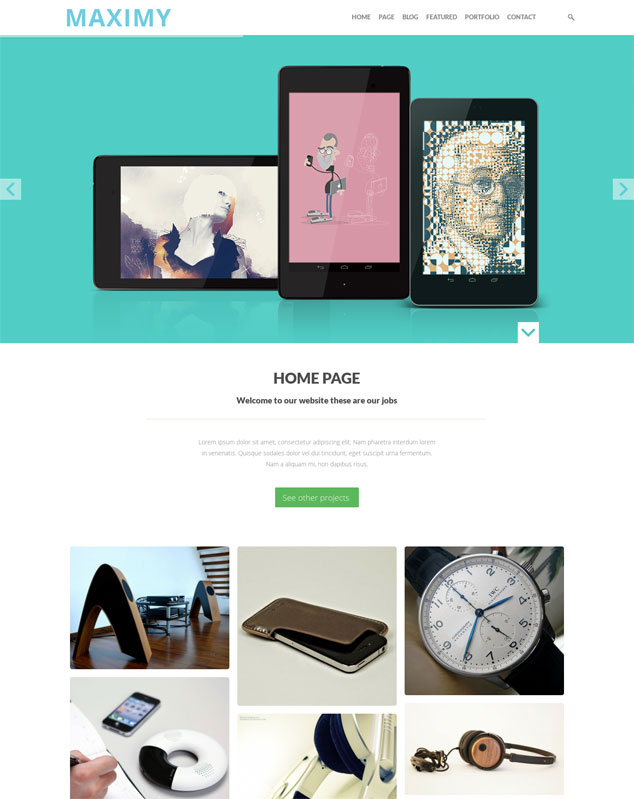maximy wordpress theme