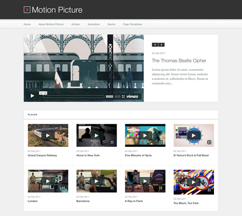 motion picture wordpress theme