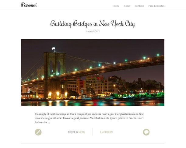 personal wordpress theme for bloggers blog theme