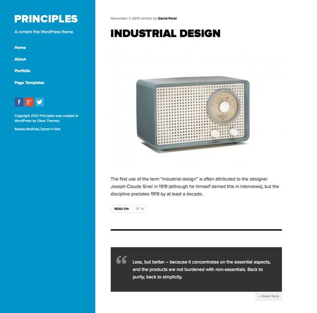 Principles WordPress Theme Obox