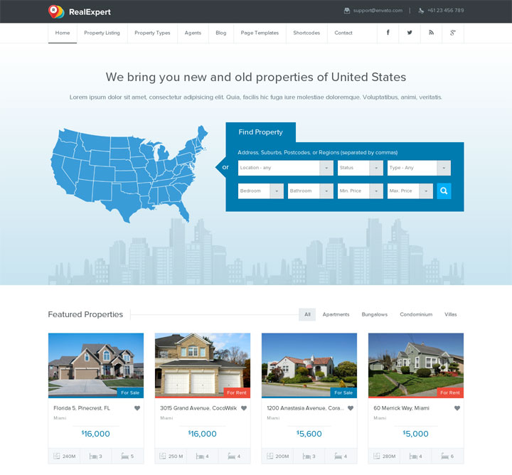 RealExpert Real Estate WordPress Theme