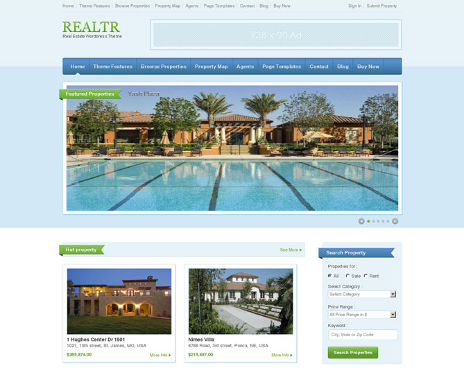 realtr wordpress theme for real estate