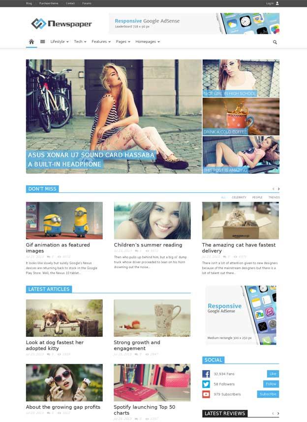Newspaper WordPress Theme tagDiv