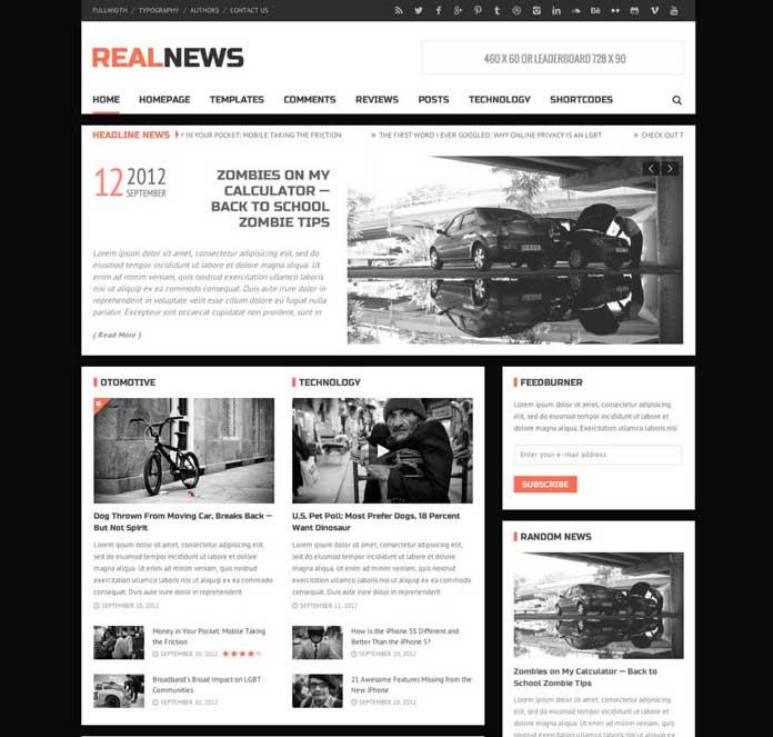 RealNews WordPress Magazine Theme