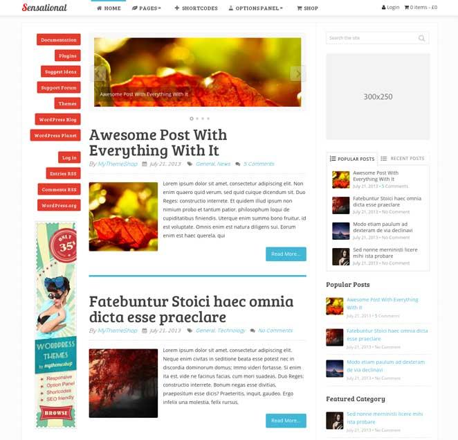 sensational wordpress theme similar to smashing magazine site design