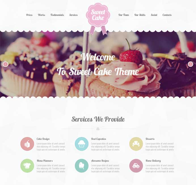 Sweet Cake WordPress Restaurant Theme