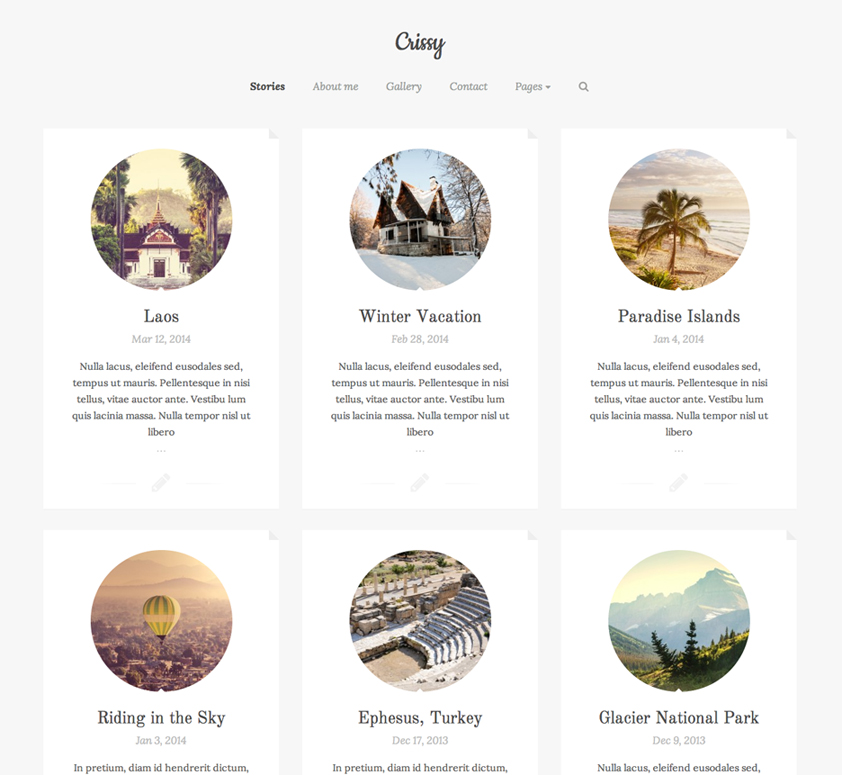 Crissy WordPress Theme