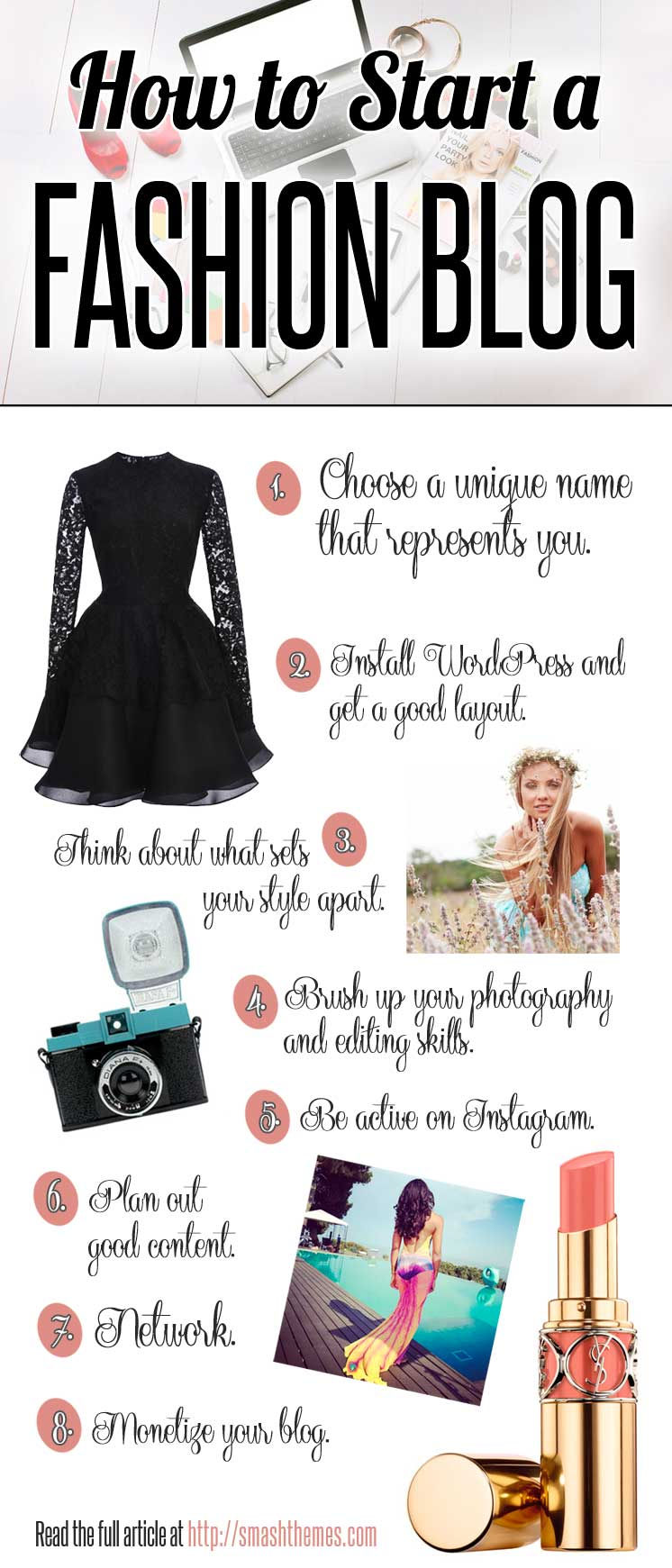 How to Start A Fashion Blog and Get Paid - Infographic