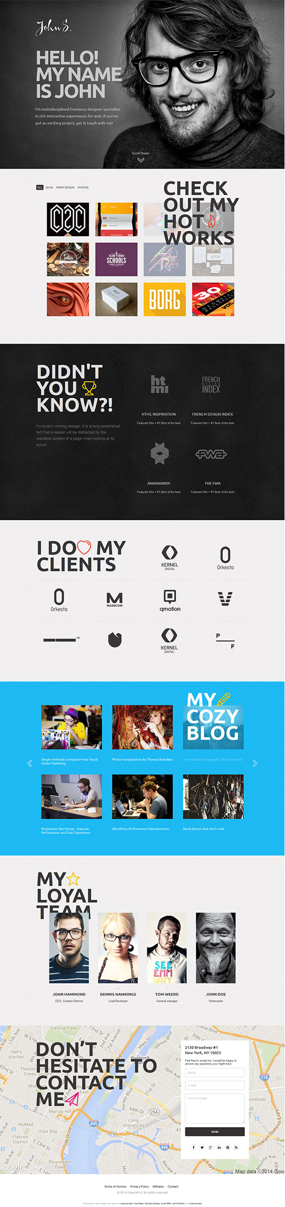 John Personal Profile WordPress Portfolio Theme