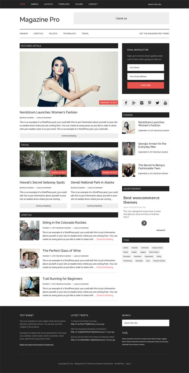 Magazine pro for Genesis StudioPress Download