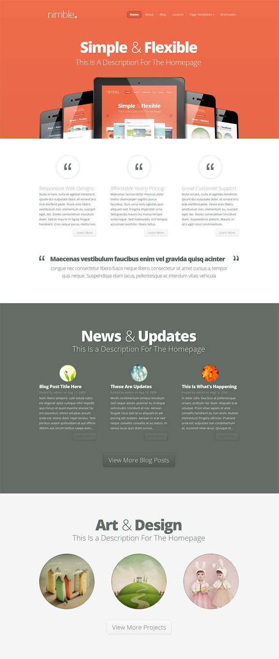 Nimble Elegant Themes WordPress Theme