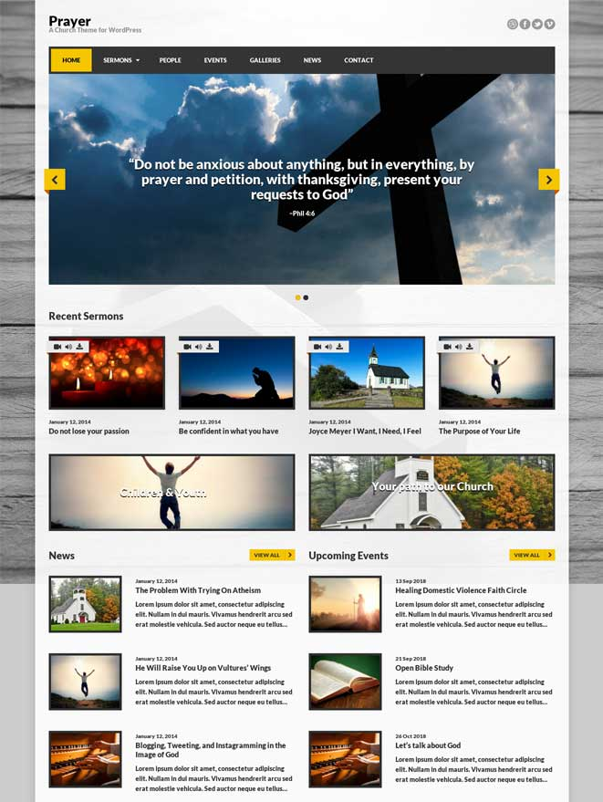 Prayer Church WordPress Theme Download