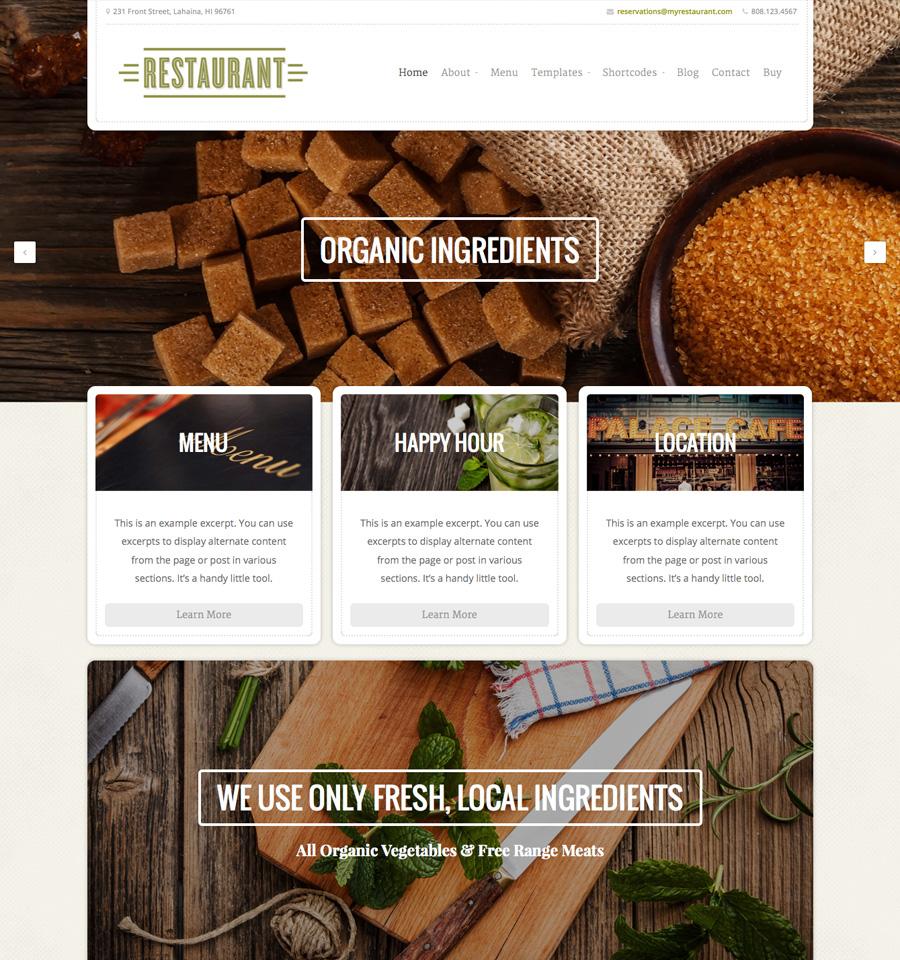 Organic Themes Restaurant Theme