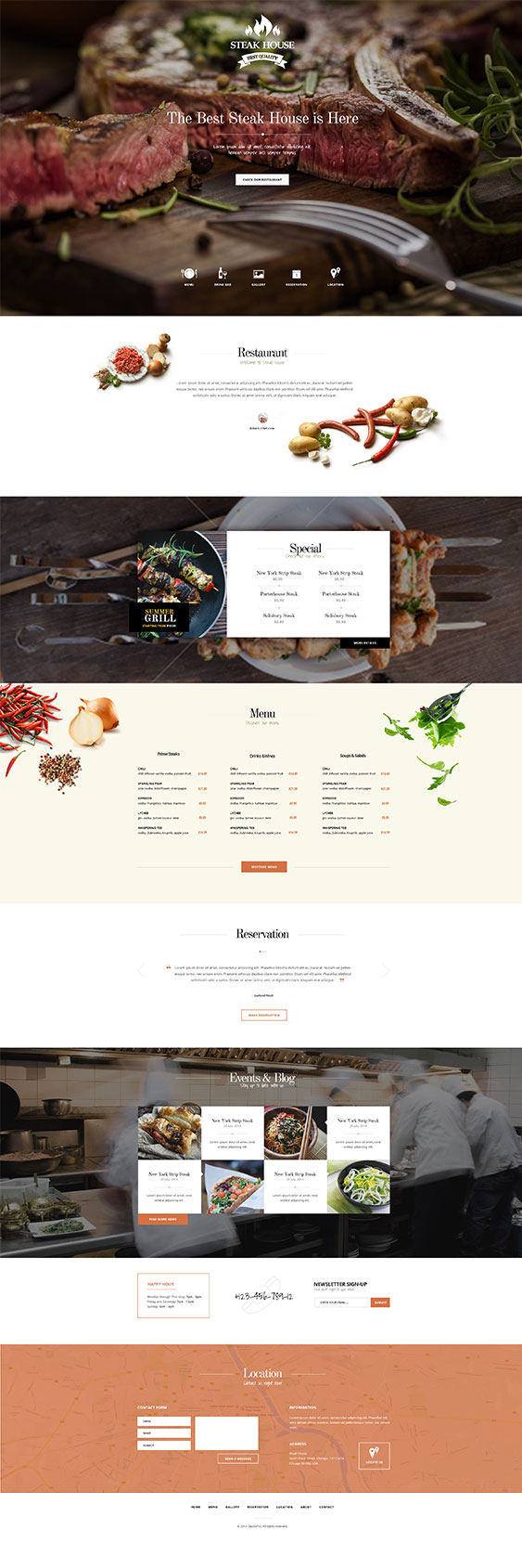 SteakHouse WordPress Food Drink Theme