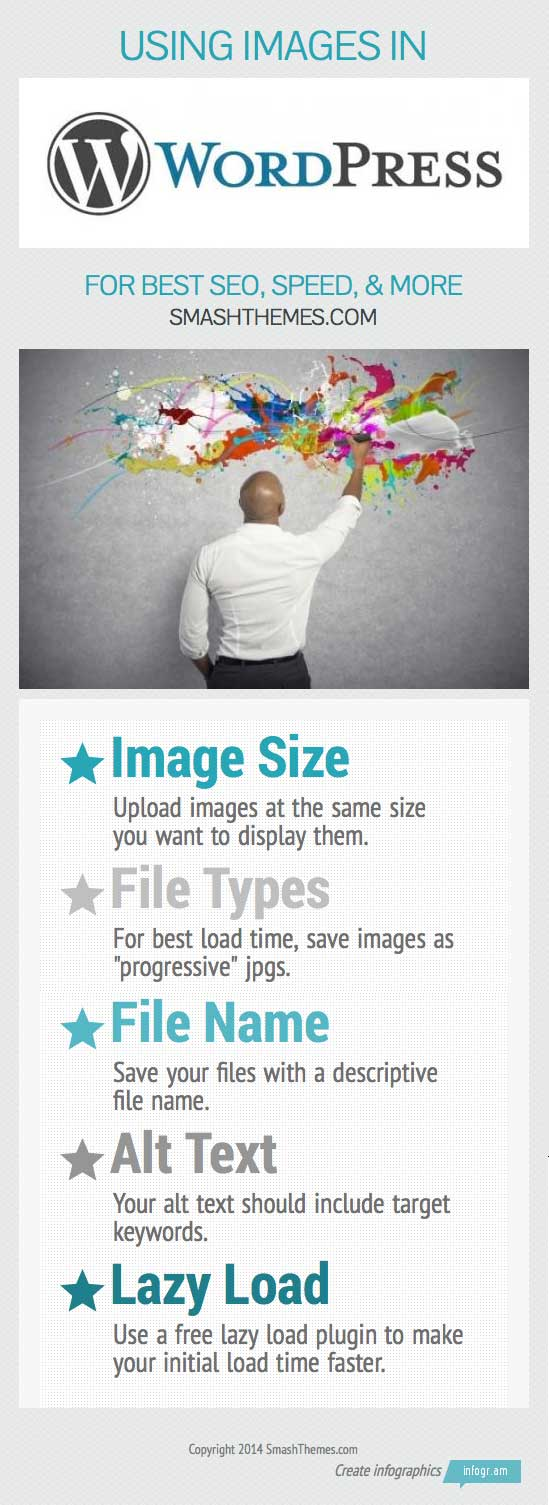 Tips for Using Images in WordPress Infographic