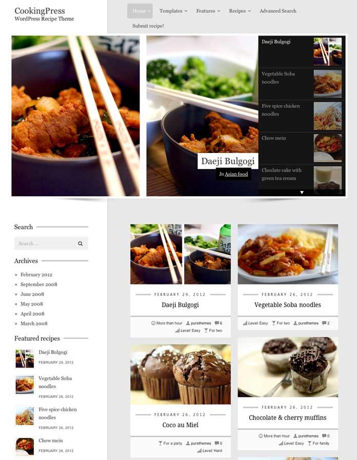 Cooking Press WordPress Recipe Theme