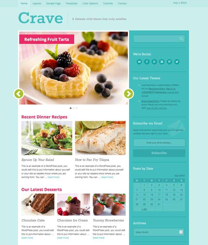 crave theme studiopress wordpress