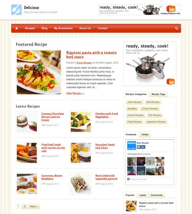 Delicioso Food and Recipes WordPress Theme