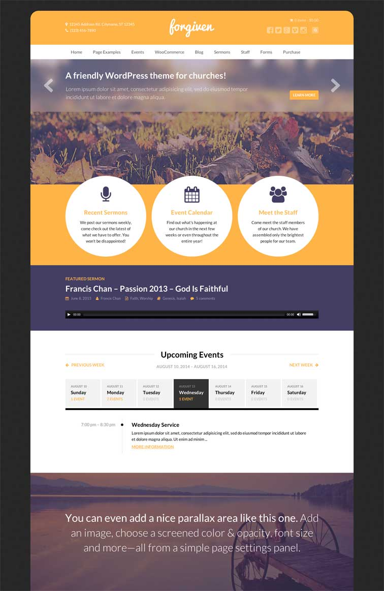 Forgiven WordPress Church Themes 2014 2013