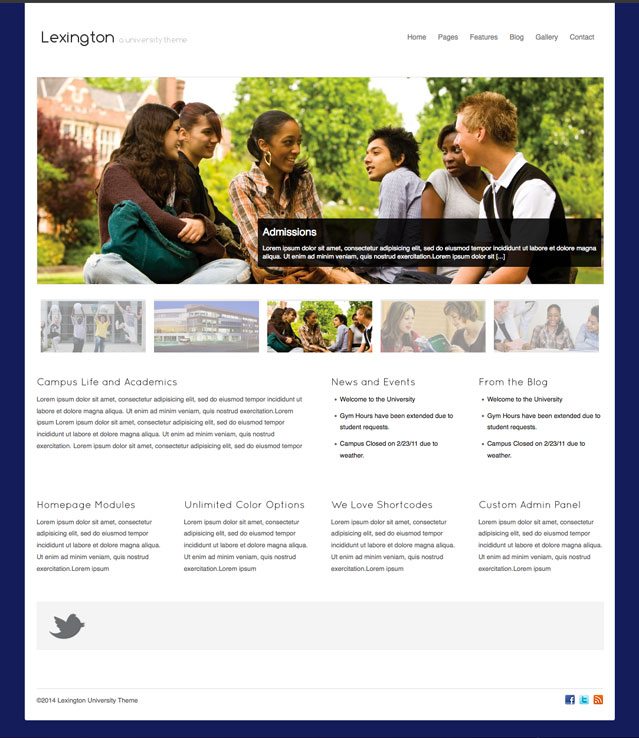 Lexington WordPress Template College University