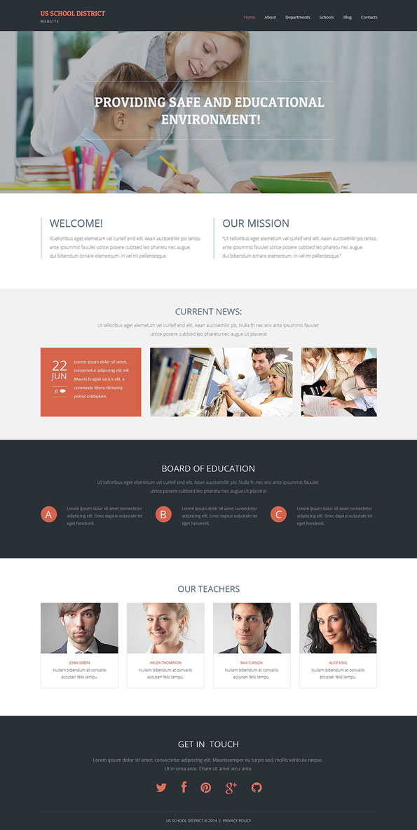 WordPress School Theme