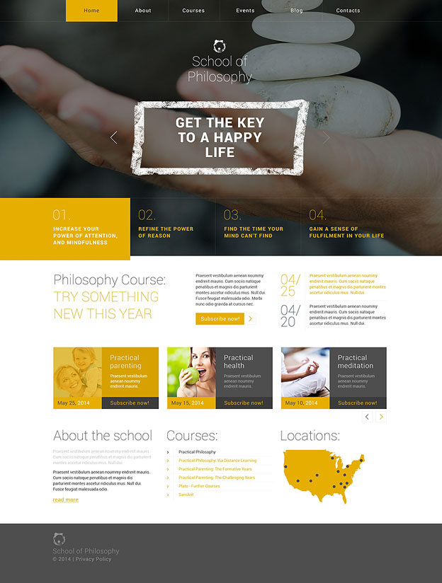College Department or Major WordPress Theme