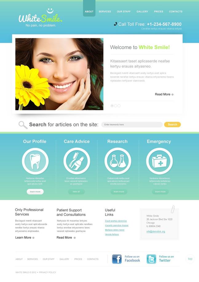 White Cmile WordPress Theme
