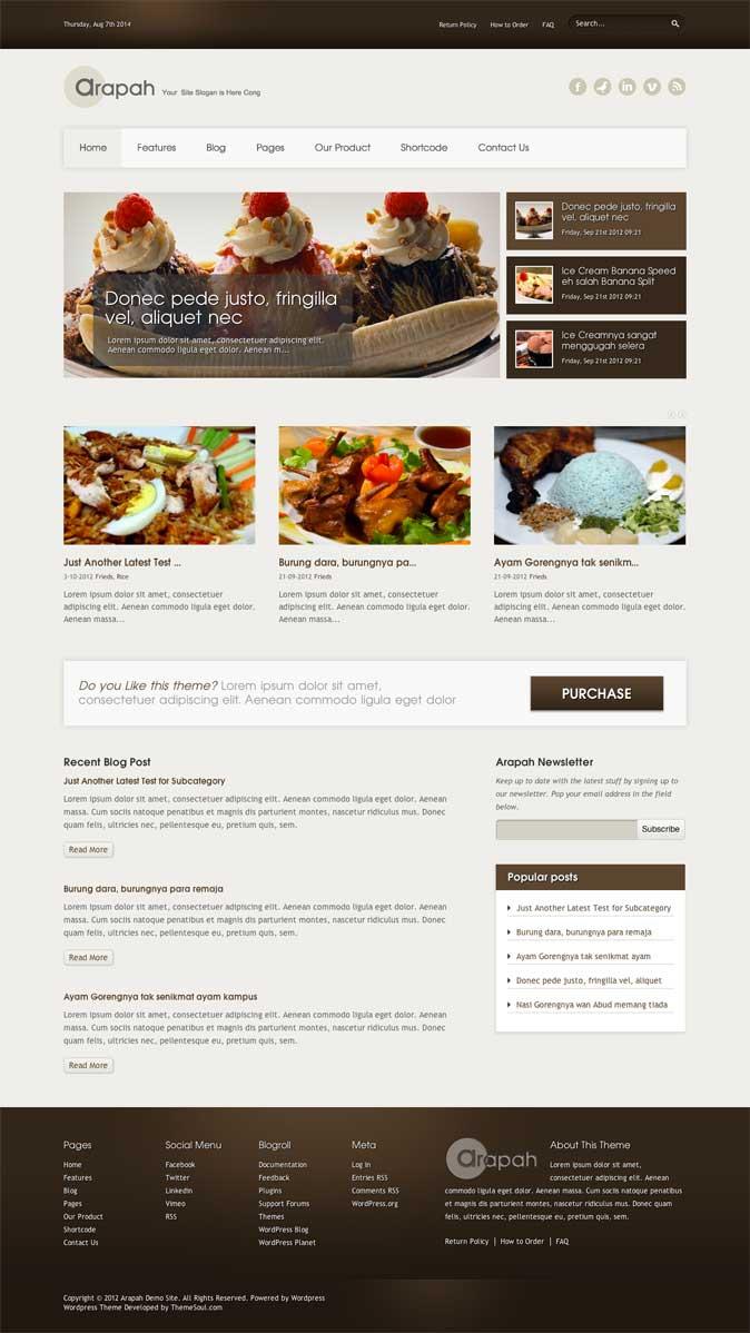 Arapah WordPress Theme