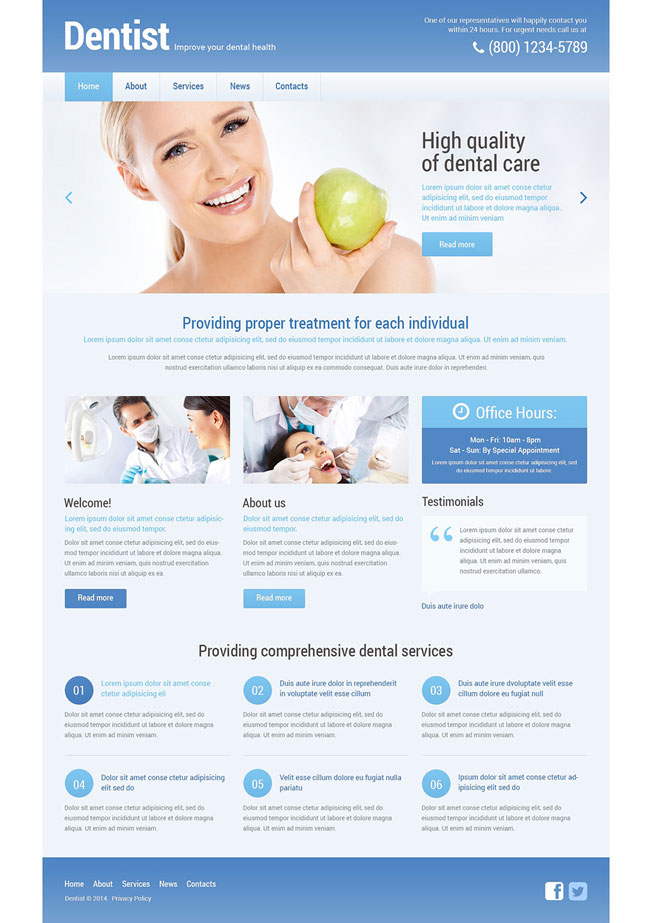 Dentistry Dental Dentist WordPress Theme