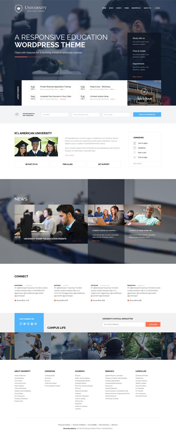 Education University WordPress Theme from Gavick Pro GavickPro