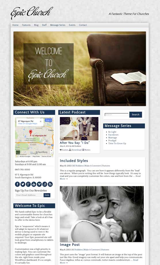 Epic Church WordPress Themes