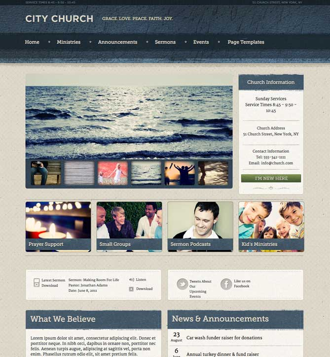 Ezekiel WordPress Theme for Churches
