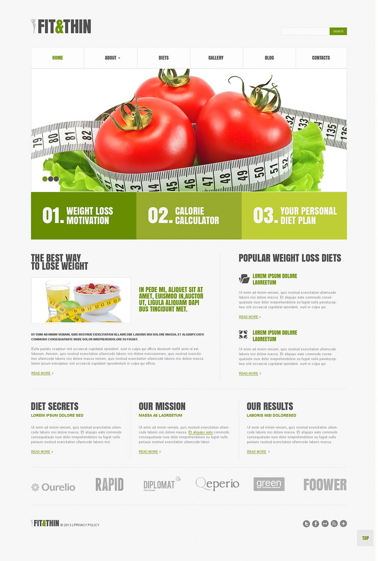 WordPress Nutrition Theme Nutritionist Consultant Weight Loss Health