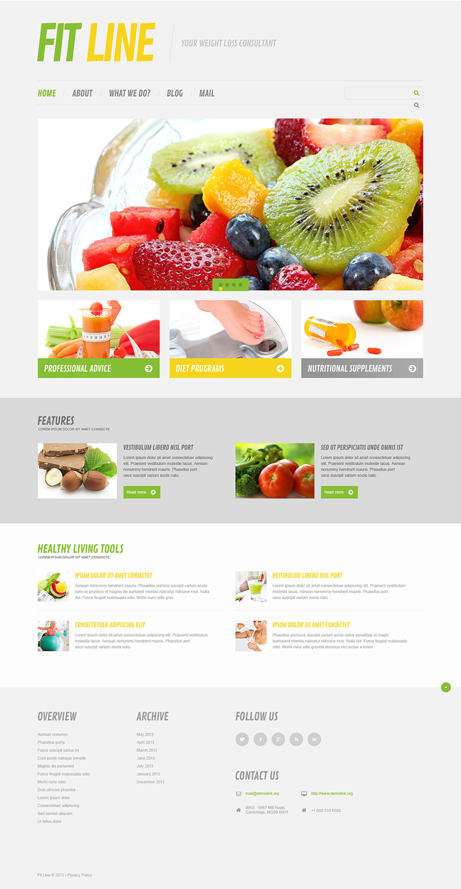 Fit Line WordPress Theme