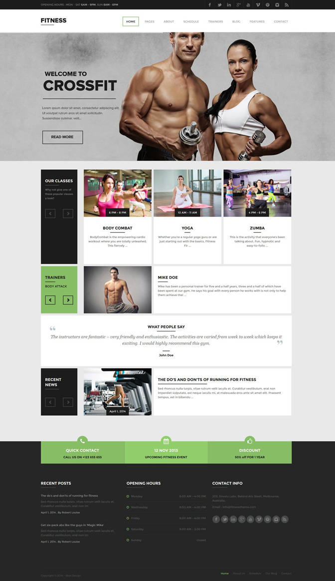 Fitness (Theme Forest) wp theme