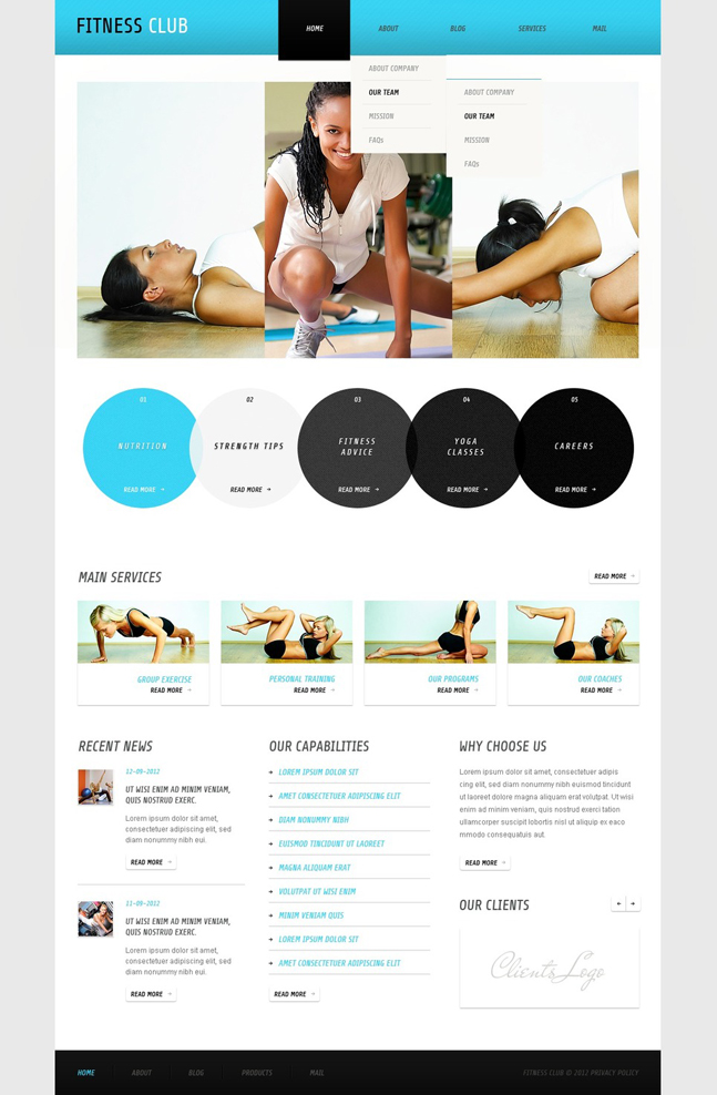 Template Monster Fitness Theme Gym Theme