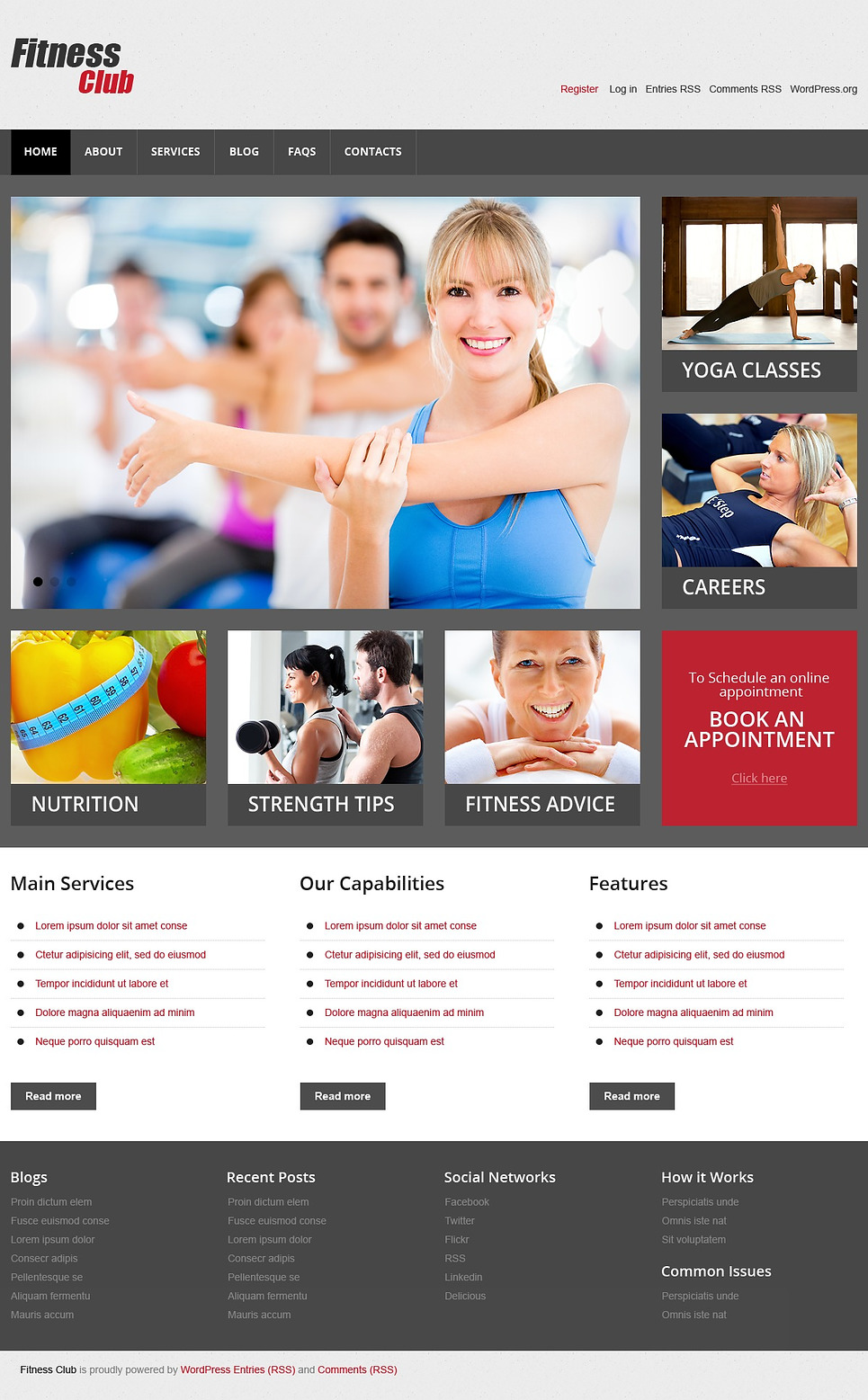 Fitness Club WordPress Theme for Gyms